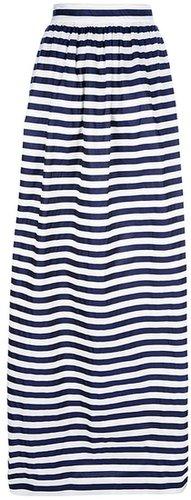 Mother Of Pearl 'Jharna' stripe taffeta long skirt