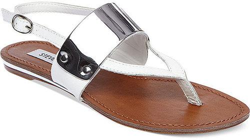 Steve Madden Women's Shoes, Cuff Flat Thong Sandals