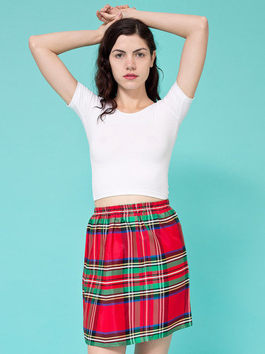 Vintage Tartan Plaid Mini Skirt