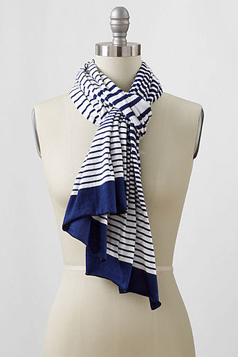 Women's Varigated Knit Stripe Scarf