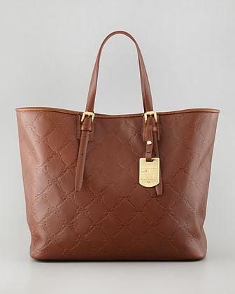 Longchamp LM Cuir Medium Tote Bag, Brown