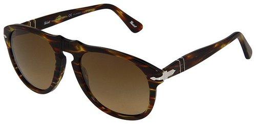 Persol - PO0649 (Green Gradient Brown/Crystal Polar Brown Gradient) - Eyewear