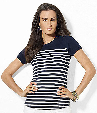 Lauren Ralph Lauren Striped Cotton Tee
