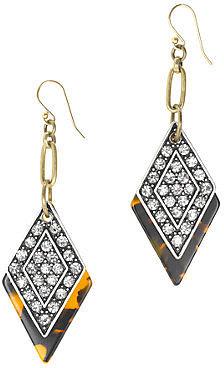Lulu Frost for J.Crew crystal kite earrings