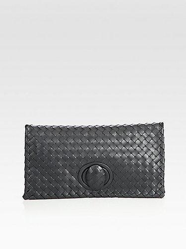 Bottega Veneta Small Woven Leather Clutch