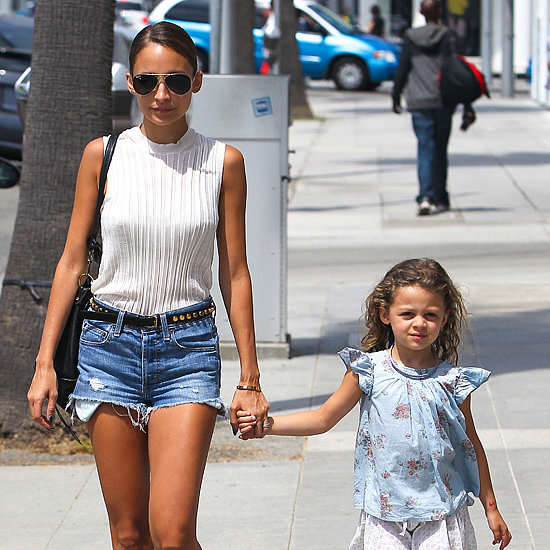 Nicole Richie and Harlow Madden Pictures Shopping in LA