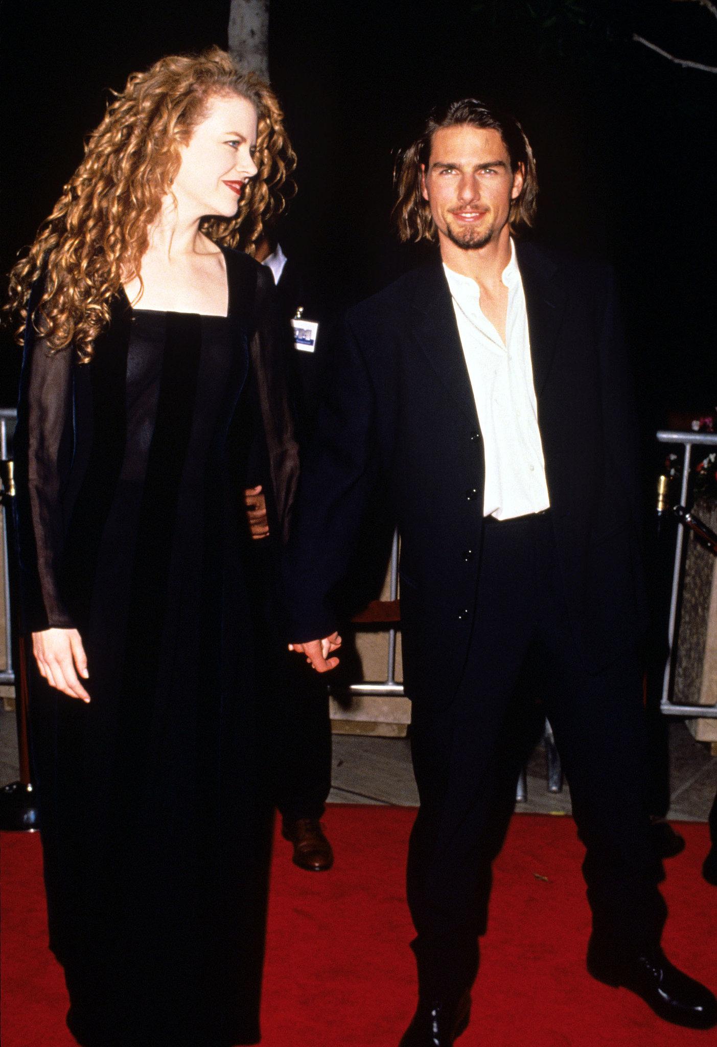 In November 1994, Tom Cruise showed off his long locks with Nicole Kidman.