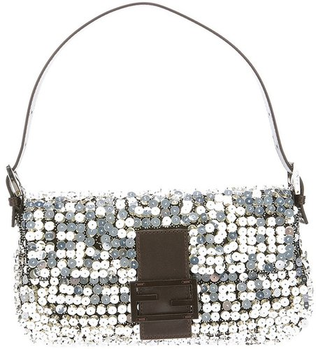 Fendi sequinned baguette bag