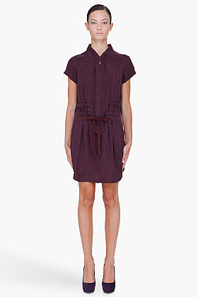 SEE BY CHLOE dark purple Drawstring Dress