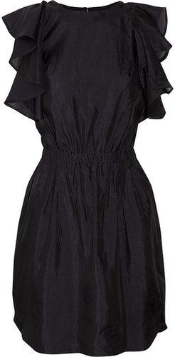 See by Chloé Ruffled silk-gauze dress