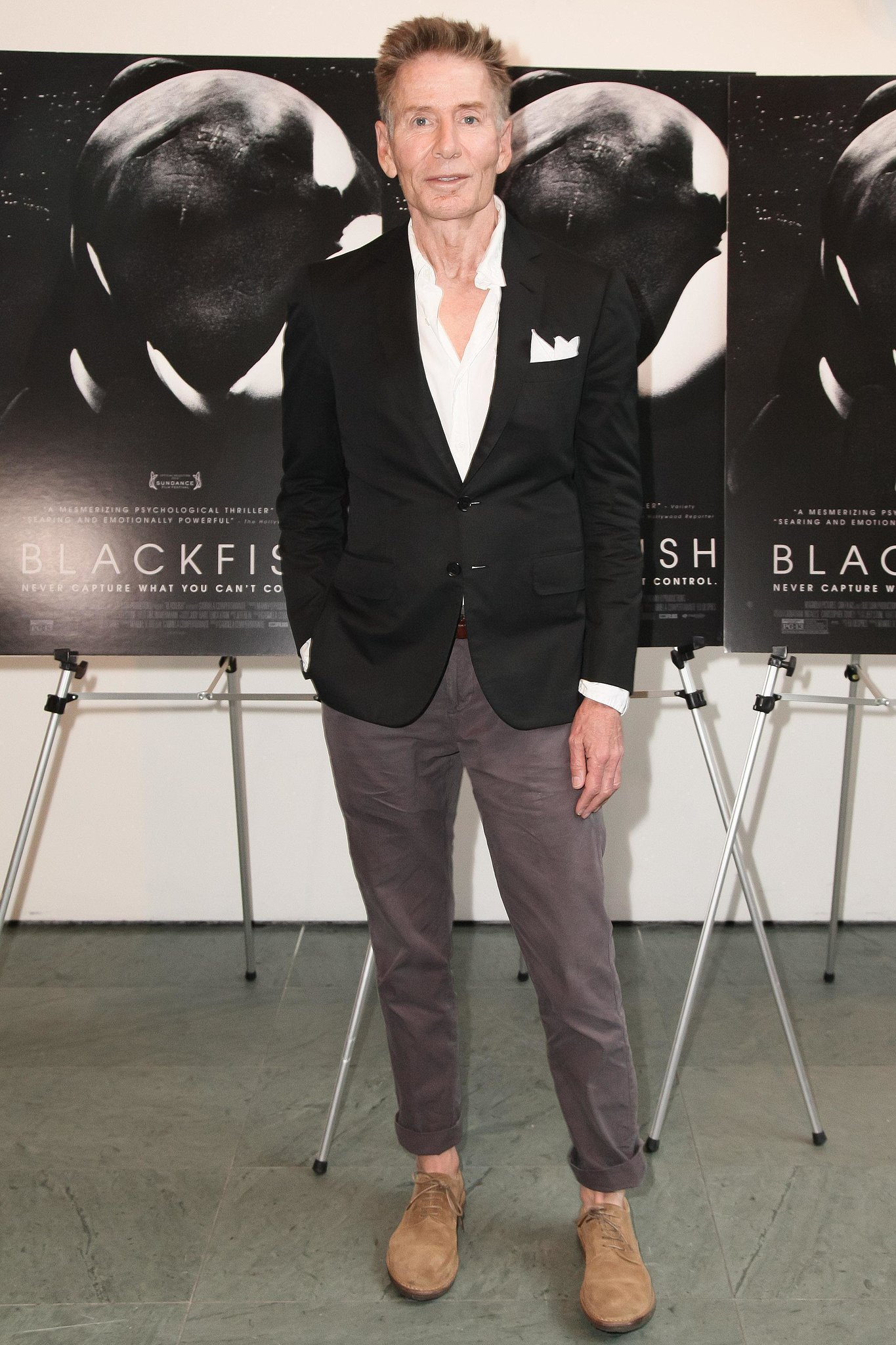 Calvin Klein looked dapper as ever at a New York screening of Blackfish with CNN.