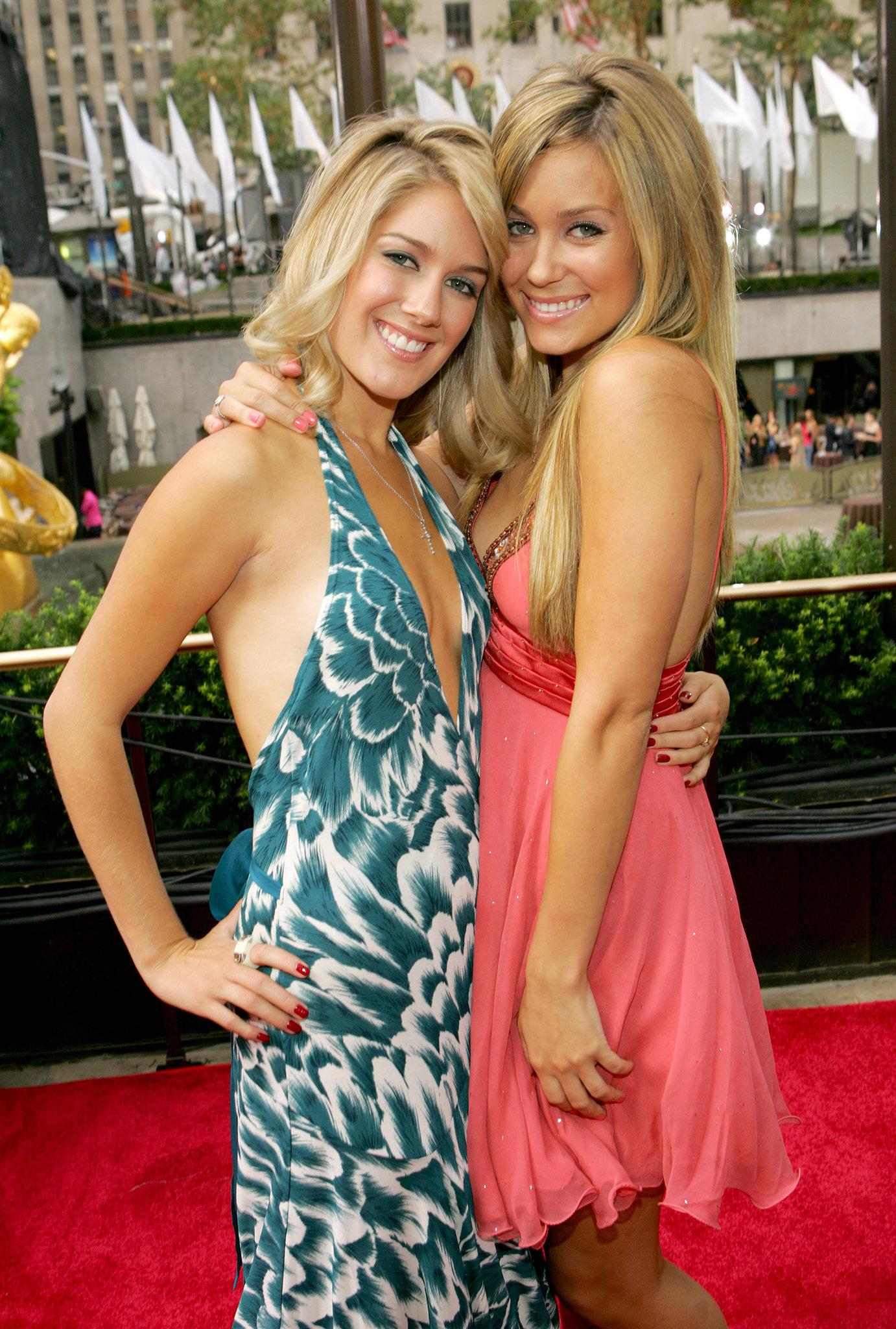 Heidi Montag and Lauren Conrad got cute on the 2006 MTV VMAs red carpet.