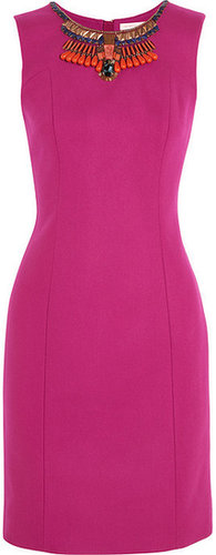Matthew Williamson Embellished wool-blend dress