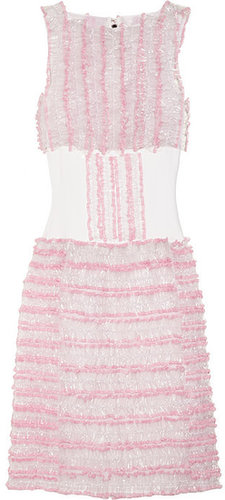Christopher Kane Ruffled silk-organza and PVC dress