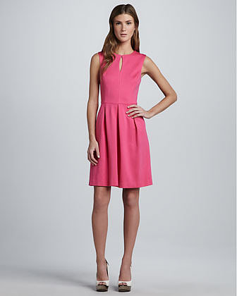 Trina Turk Sunnie Ponte Keyhole Dress