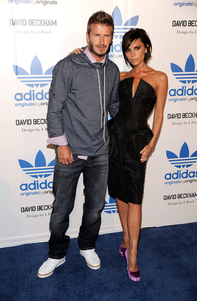 David and Victoria stayed close at an Adidas event in LA in Sept. 2009.