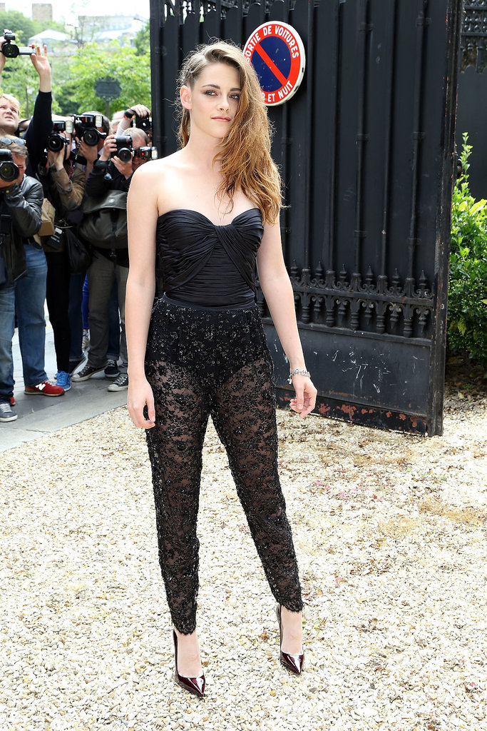 One of Kristen Stewart's sexiest looks yet? Possibly. She wore this Zuhair Murad jumpsuit to the designer's Haute Couture show in Paris in July 2013.