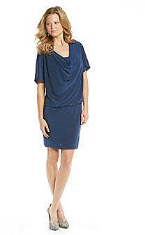 Ronni Nicole® Drapeneck Blouson Knit Dress
