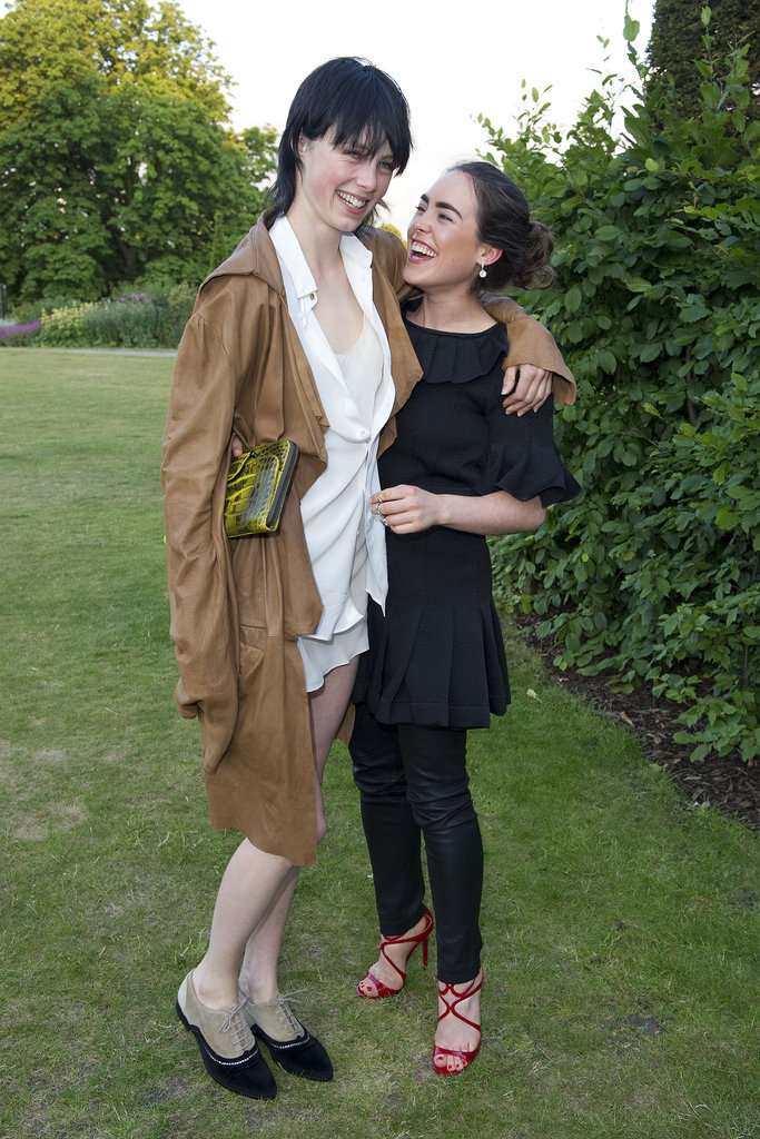 In London, Edie Campbell and Tallulah Harlech enjoyed the festivities at the Kensington Palace Fashion Rules exhibition launch.