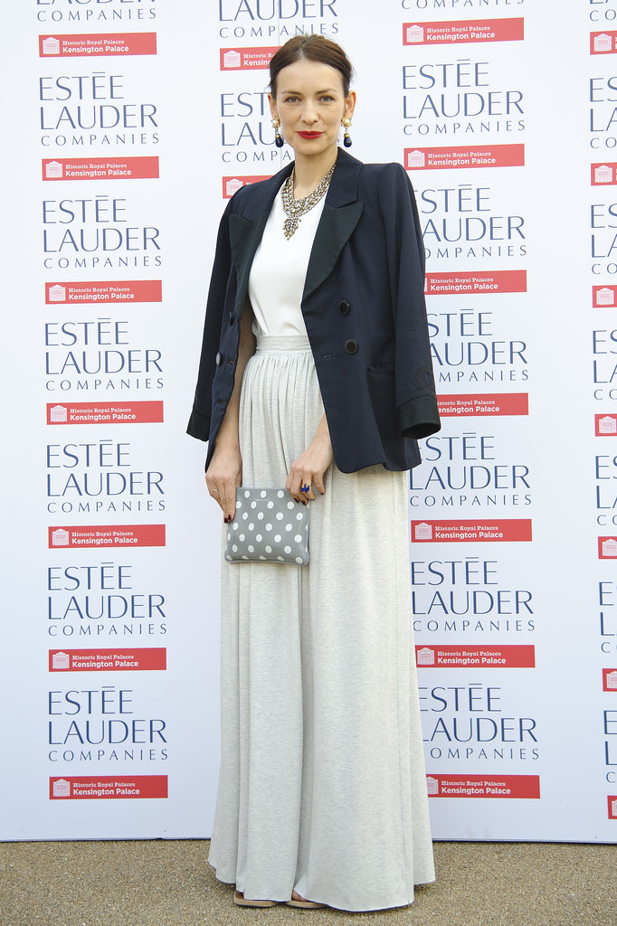 Roksanda Ilincic looked chic in black and white at the London launch of the Fashion Rules exhibition.
