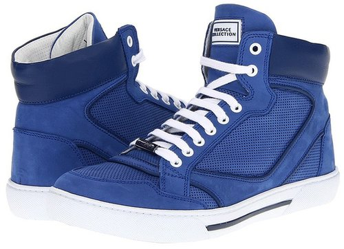 Versace Collection - High Top Sneaker (Cobalt) - Footwear