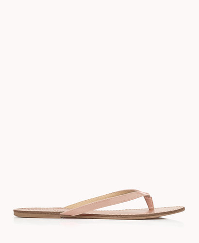 FOREVER 21 Faux Patent Leather Flip-Flops