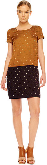 Michael Kors Studded Colorblock Dress
