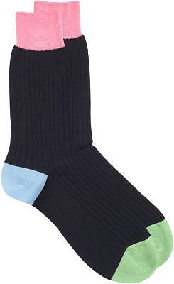 Richard James Wide Ribbed Multicolored Dress Socks