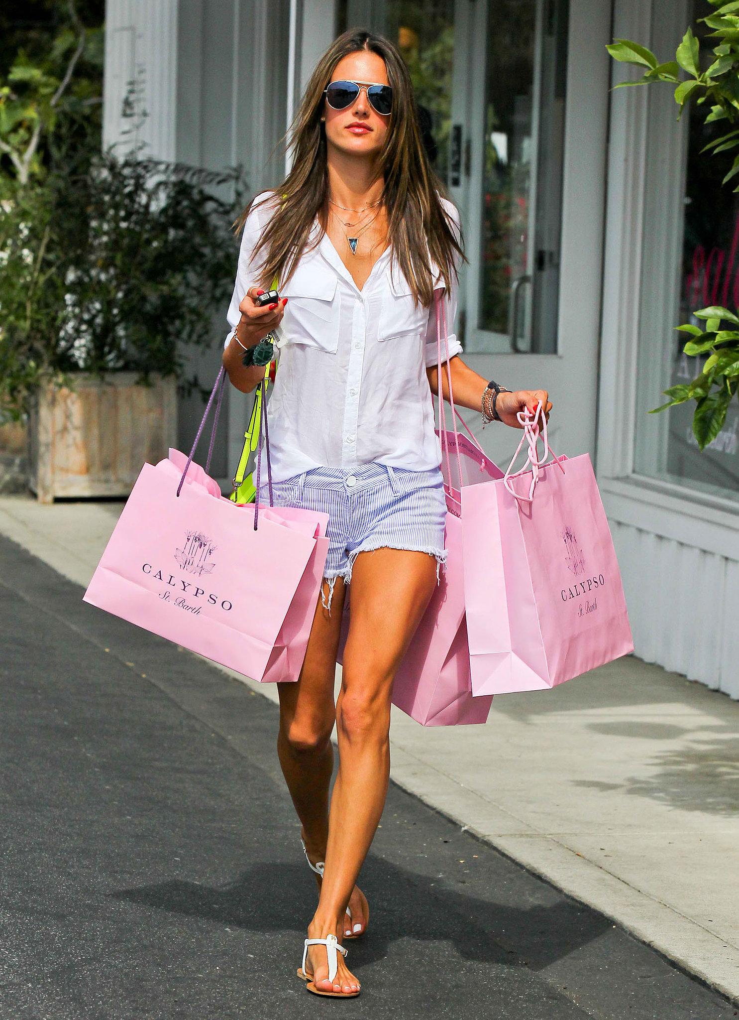 For a major shopping spree at Calypso, Alessandra Ambrosio
