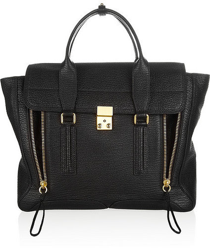 3.1 Phillip Lim The Pashli shark-embossed leather trapeze bag