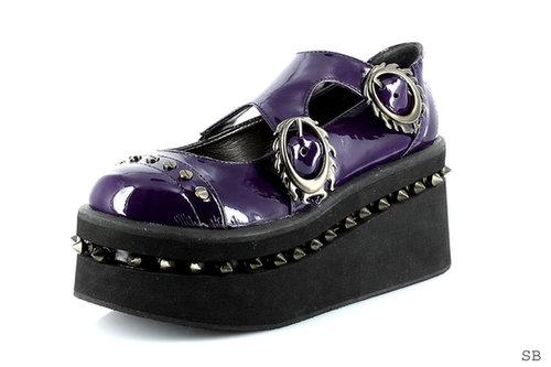 "Hades Shoes H-Lilian, Womens 2"" to 3"" Wedge Platform flats-Satin-Boutique.com"