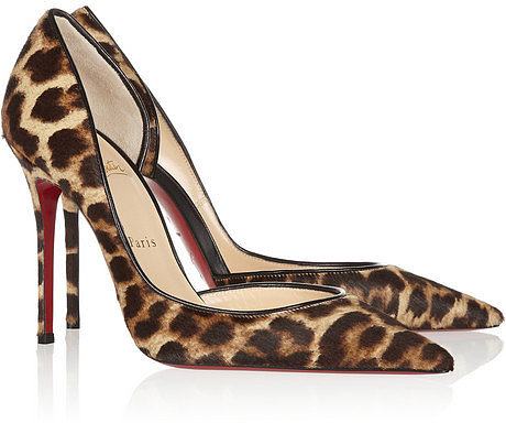Christian Louboutin Iriza 100 leopard-print calf hair pumps