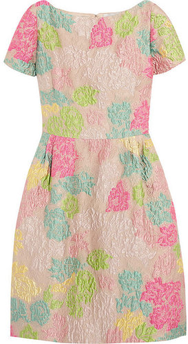 Valentino Floral-brocade dress