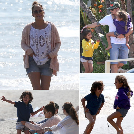 Jennifer Lopez Hits the Beach With Her Brood in Malibu