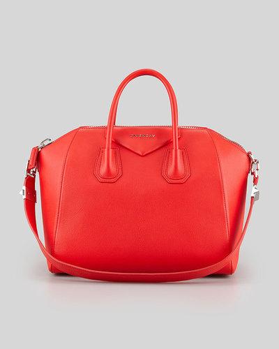 Givenchy Antigona Medium Satchel Bag, Red