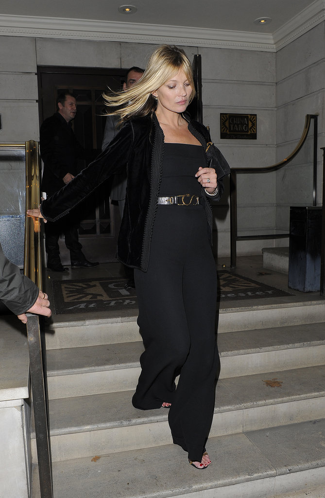A black jumpsuit ticks all the right boxes for Kate Moss.