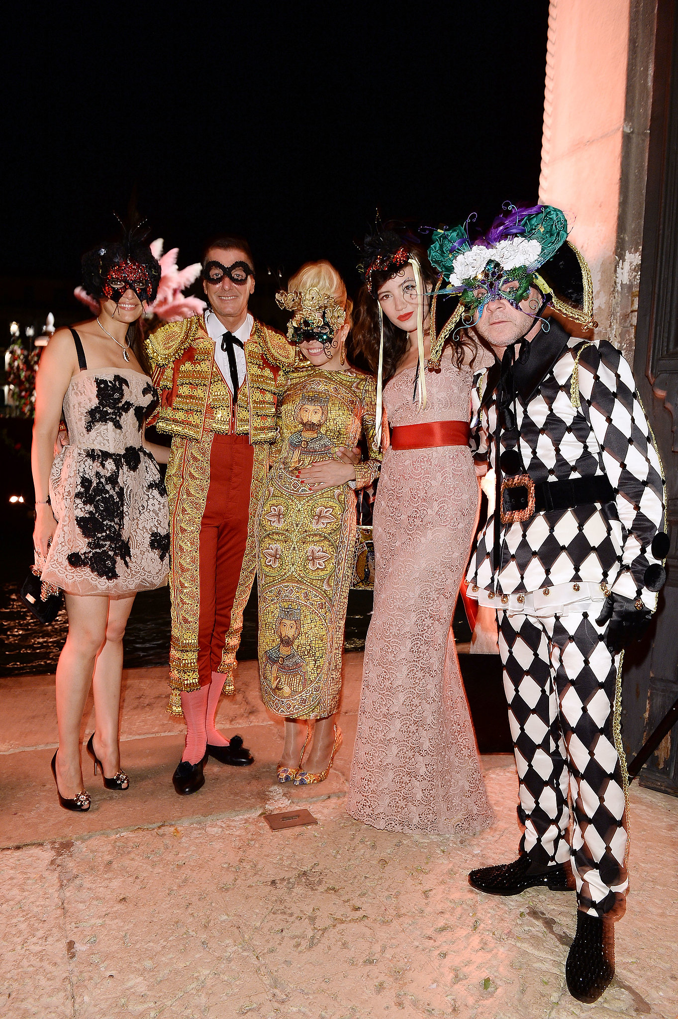 Caterina Murino, Stefano Gabbana, Paloma Faith, Daisy Lowe, and Domenico Dolce embraced the party spirit and on