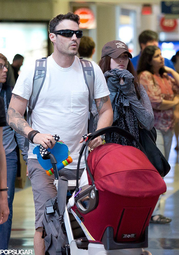 Megan Fox and Brian Austin Green went to LAX with their son, Noah.