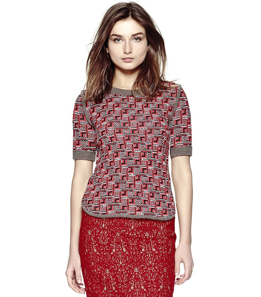 Even with summery sundresses currently taking up space in our closets, we can already picture this Tory Burch sweater ($395) styled with dark jeans and riding boots.