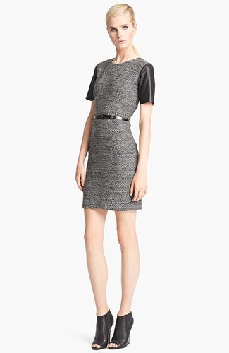 Jason Wu Belted Tweed Dress
