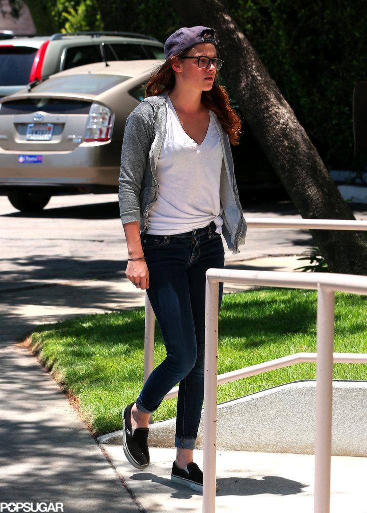 Kristen Stewart headed to a studio in LA.