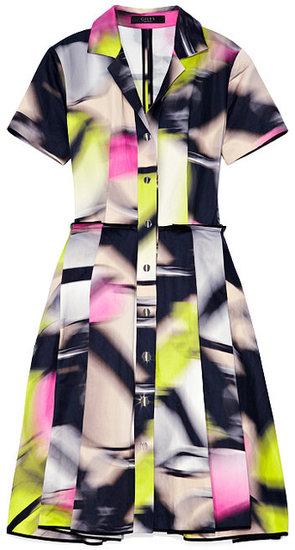 Preorder Giles Screw Blur Metal Cotton Shirtdress