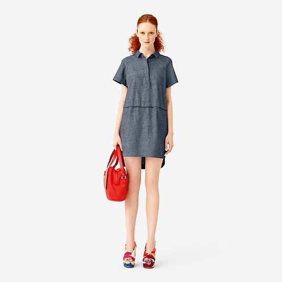 Two-Way Shirtdress in Chambray