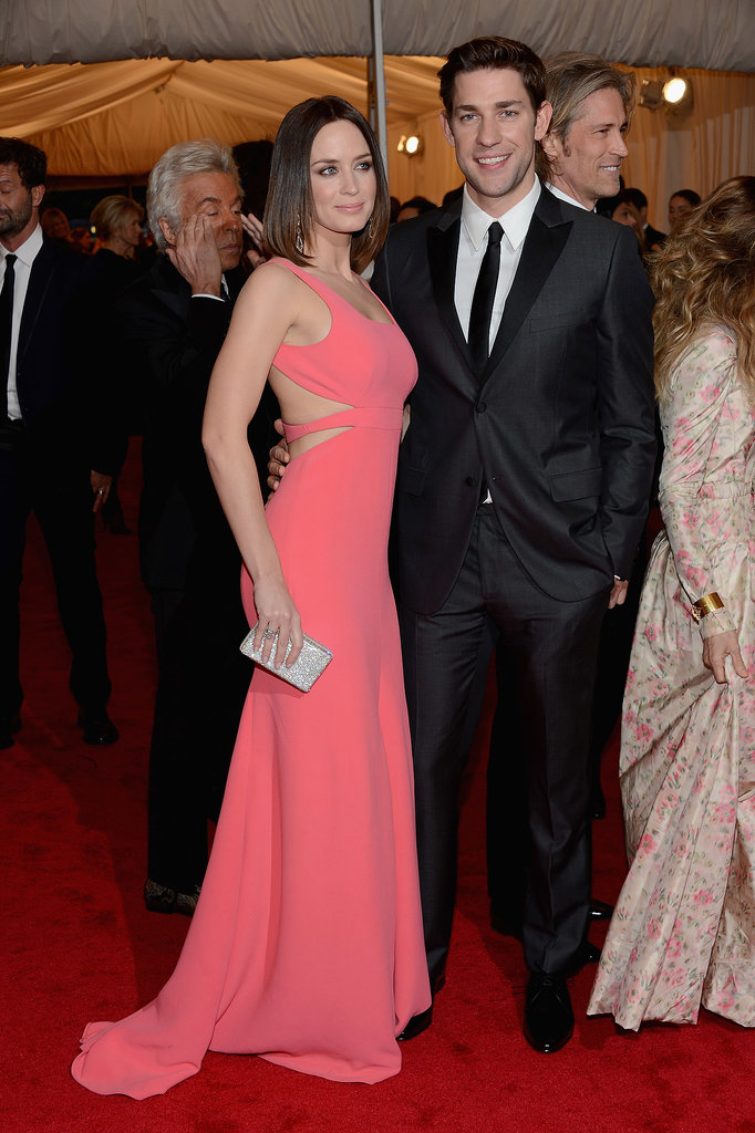 Emily made a bright impact in this gown at the Met Gala in May 2012 with John by her side.
