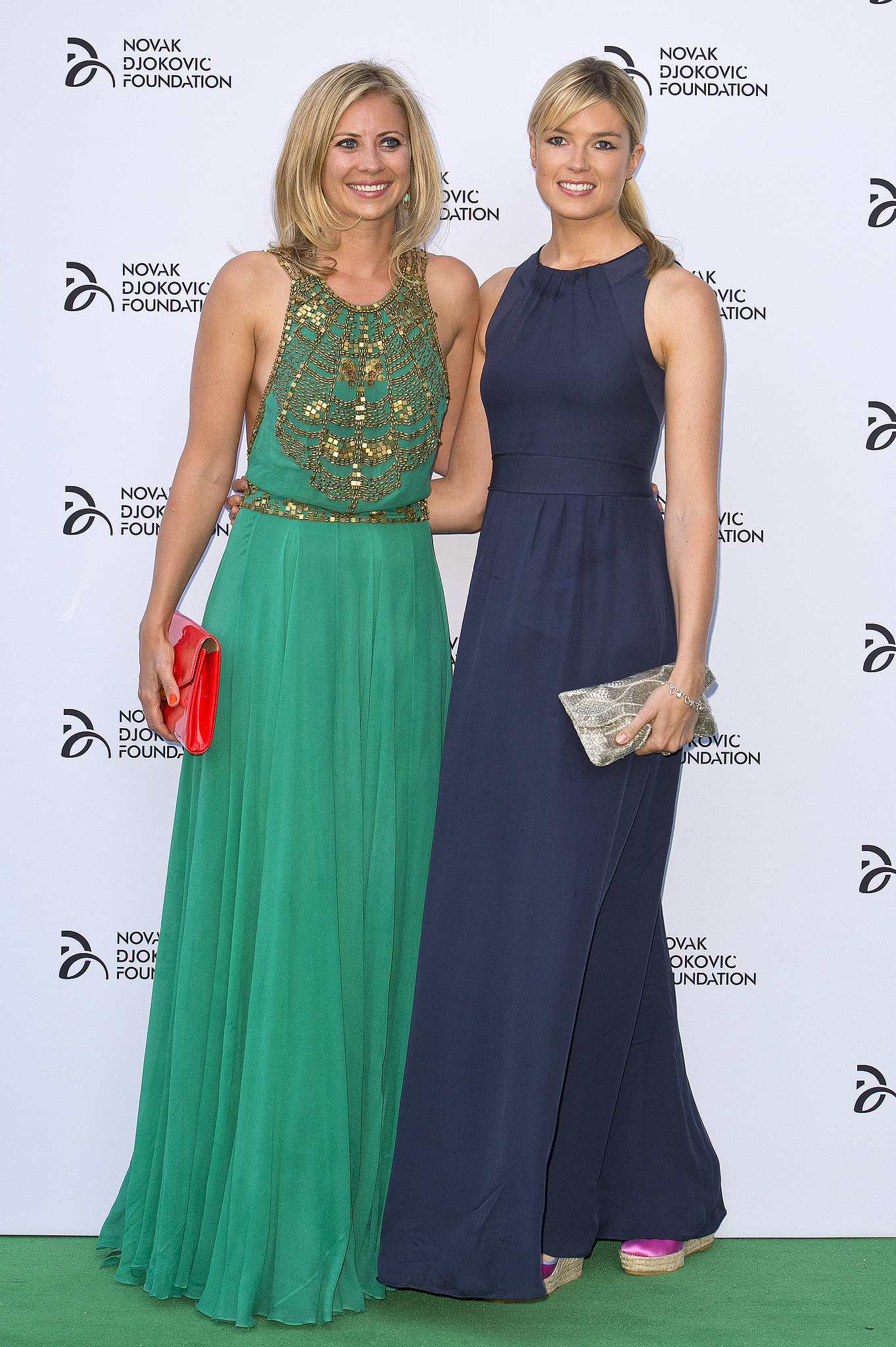 The Novak Djokovic Foundation brought out Holly Branson and Isabella Anstruther-Gough-Calthorpe in dramatic jewel-tone gowns.