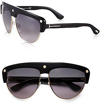 Tom Ford Eyewear Liane Shield Aviator Sunglasses