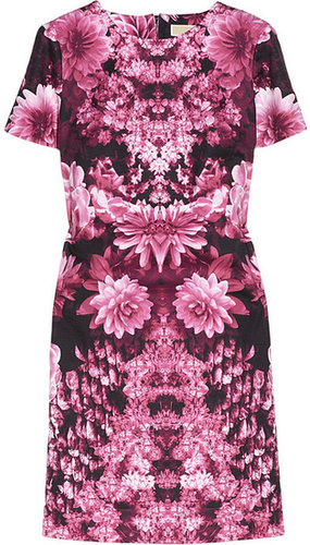 MICHAEL Michael Kors Floral-print cotton-blend mini dress