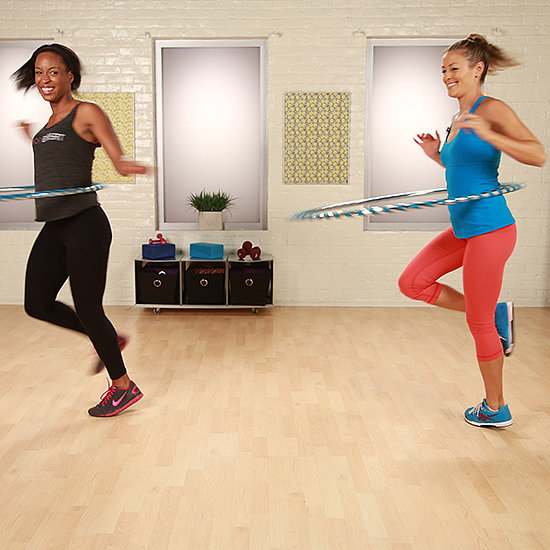 hula hoop exercises from hoopnotica popsugar fitness. Black Bedroom Furniture Sets. Home Design Ideas