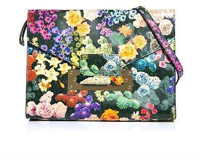 Sophie Hulme Floral envelope clutch