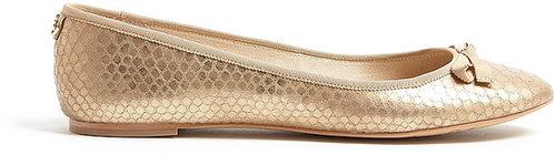 Sam Edelman Gold Anaconda Milly Ballet Flats